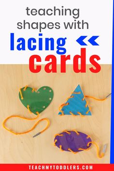 There are so many busy bags that you could make, but a shape-themed busy bag is perfect for the toddler learning their shapes! These shape lacing cards are an easy addition. Making these cards is very simple. Fine Motor Activities For Kids, Preschool Learning Activities, Preschool Lesson Plans, Free Preschool, Toddler Preschool, Toddler Crafts, Preschool Activities, Kids Crafts, Teaching Shapes