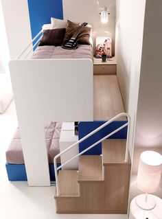 Doimo Cityline Verona, Trento, Mantova – Stefania Arreda - All For Decorations Cool Bunk Beds, Bunk Beds With Stairs, Cool Rooms, Small Rooms, Bedroom Decorating Tips, Decorating Ideas, Decor Ideas, Bunk Bed Designs, Kids Room Design