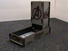 Fold-Down Dice tower/Roller with flip up tower and dice storage, Avengers, Dicemasters
