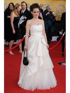 Buy Custom Made High Quality Winona Ryder Oscar Elegant Princess Strapless Ruched Long Satin And Tulle Celebrity Dress CD-7222 at wholesale cheap prices from Bridal-Buy.com
