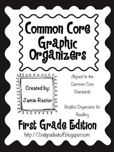 graphic organizer first grade | 2nd Grade Stuff: Common Core Graphic Organizers: 1st Grade Edition