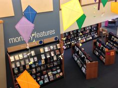 Kites in the library!