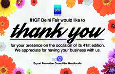 Thank You!! for making IHGF Delhi Fair, Spring 2016 a Huge Success #ihgf #tradeshow