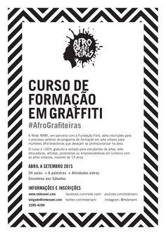 Ajude a divulgar o curso carioca de graffiti,100% gratuito, com recorte de gênero e raça. Imprima o cartaz da campanha!