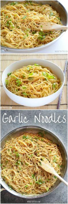 Garlic Noodles - Rich, savory, AND sweet! BudgetBytes.com