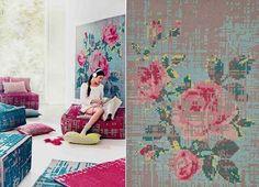 Cross Stitch Embroidery Creating Unique Furniture and Decor Accessories