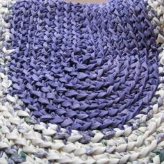 Braided Crochet Purple Rag Rug no Pattern just for the colors.