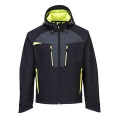 Softshell elástico DX4 Softshell, Hooded Jacket, Athletic, Zip, Sports, Jackets, Outdoor, Fashion, Zippers