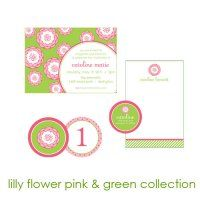 Lilly Flower Collection : WH Hostess, Stationery Custom Designs Party Planning Holidays Birth Announcement Collections