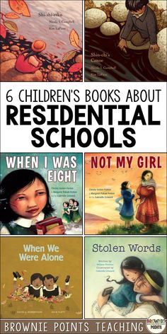 Introduce the topic of residential schools in Canada to your students with these picture books.  Perfect for Orange Shirt Day and an important part of the Truth and Reconciliation process. Aboriginal Education, Indigenous Education, Indigenous Art, Indigenous Knowledge, History For Kids, History Teachers, Teaching Social Studies, Teaching Resources, Canadian Social Studies