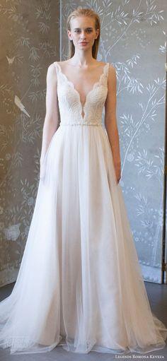 e59df2202b30b legends romona keveza spring 2018 bridal sleeveless deep v neck lace bodice  a line wedding dress