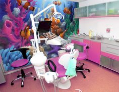 Transport your pediatric dental patients under the sea with a cool mural!