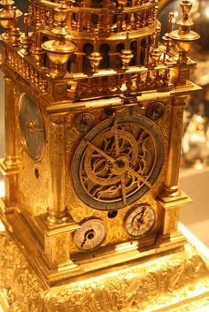 Astronomical Table Clock | Flickr - Photo Sharing! Shelby Navone Astronomical Table Clock German (Augsburg) second quarter 17th century Case of gilt bronze and gilt brass; dials partly of silver and partly of gilt brass; movement of gilt brass and steel