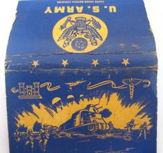 US Army matchbook