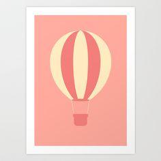 #84 Hot Air Balloon Art Print by MNML Thing - $18.00