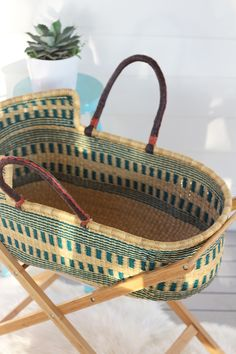 Organic Pine Moses basket from The Young Folk Collective