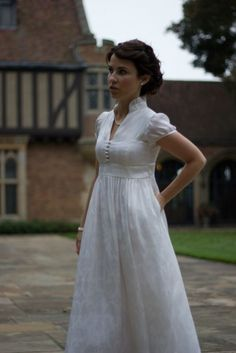 How very Jane Austen, and I love it...shortened and it would be such a cute summer dress