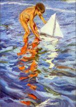 SOROLLA niño con velero