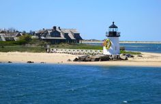 Brant Point Lighthouse, Nantucket Daffodil Festival. Nantucket Island turns yellow every year in April for its annual Daffodil Festival.