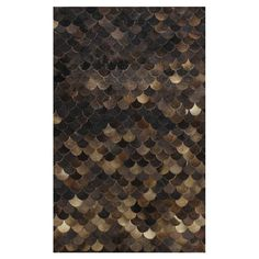 water element in your rug but with a warm and mysterious dimension: Alameda Leather Rug