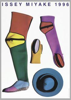 Ikko Tanaka, poster artwork for Issey Miyake, Photography: Irving Penn. Via Cooper Hewitt. Fashion History, Fashion Art, New Fashion, Editorial Fashion, Vintage Fashion, Fashion Graphic, 2000s Fashion, Sport Fashion, Fashion Outfits