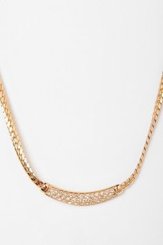 Vintage '80s Christian Dior Rhinestone Necklace  #UrbanOutfitters