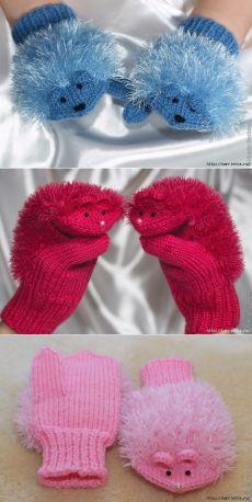 Baby Knitting Patterns Mitten MISS. Knitting with needles for children Baby Knitting Patterns, Knitting For Kids, Loom Knitting, Crochet For Kids, Free Knitting, Knitting Projects, Crochet Patterns, Crochet Baby Mittens, Crochet Gloves