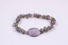 GENUINE HEALING LABRADORITE Crystal Chip Stone Bracelet  #Bracelets See more! https://lalamotifs.com/product/genuine-healing-labradorite-crystal-chip-stone-bracelet/