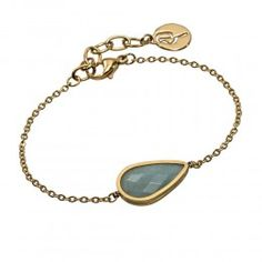 In matt gold and aqua marine, this This Sanna Bracelet from Swedish jewellery designers Edblad is a must-have for jewellery-lovers.