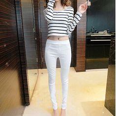 Novo 2016 verão outono mulheres calças de alta elastic leggings plus size pantalon femme calças para as mulheres atam calças mujer em Calças de Roupas e Acessórios no AliExpress.com   Alibaba Group