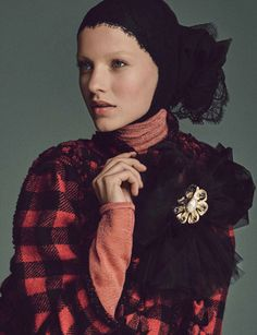 Maartje Verhoef by Iango Henzi + Luigi Murenu for Vogue Germany September 2015 - Chanel