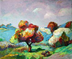 "Saatchi Art Artist Igor Marchenko; Painting, ""A spring is in steppe."" #art"