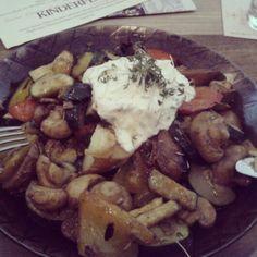 #Kartoffel #Dip #Gemüse #Pfanne #Gönnen #kerne #Kräuter #Champignons #Paprika #Zucchini #Tomate #Rosmarin