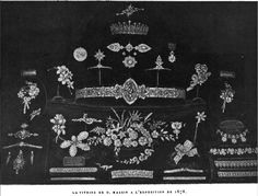 Oscar Massin's display from the Exposition Universelle of 1878. Which includes a piece that looks somewhat familiar. Info courtesy of royal magazin. http://www.royal-magazin.de/england/fife-massin-tiara.htm