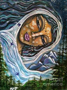 Great Star Mother Painting by Maya Telford - Great Star Mother Fine Art Prints and Posters for Sale