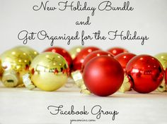 Its time to get your Organized Holiday on Mom!  And to make that happen we've got a fresh NEW design for our GO MOM! Holiday Bundle and a special Get Organized for the Holidays FB Group just for you! C'mon ~ join us for all kinds of organized fun! Get New Holiday Bundle and Get Organized for the Holidays Facebook Group | gomominc.com