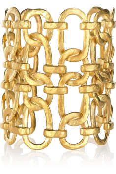 Kenneth Jay Lane | 22-karat gold-plated linked chain cuff | NET-A-PORTER.COM