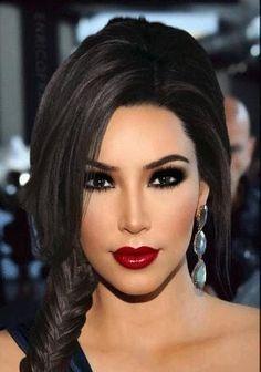 Glamorous Makeup, Stunning Makeup, Pretty Makeup, Red Lipstick Looks, Red Lipstick Makeup, Beauty Make-up, Beauty Hacks, Hair Beauty, Bridal Makeup Red Lips