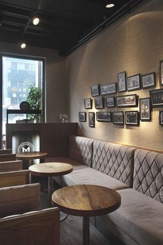 Small cozy ,warn and moody interior design for coffee shop . #restaurantdesign