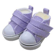 Barato Novas Cores Sortidas Um Par de Sapatos de Lona Para BJD Boneca, Moda Mini…