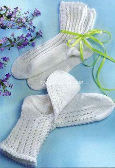 Женские и детские носки вязаные спицами