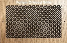 Get rid of those ugly metal air grilles. Choose a pattern or get custom, laser-cut wood panels and wood return air vent grilles in any size and shape! Air Vent Covers, Roofing Felt, O Design, Design Ideas, Laser Cut Wood, Laser Cutting, Roofing Materials, Wood Ceilings, Floor Patterns