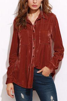 Velvet crush ~~~#maykool #fashion #shirt #velvet