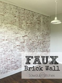 how to faux brick wall sawdust 2 stitches more - Interior Faux Brick Wall Ideas