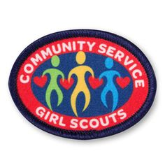 girl scouts community service patch $1.25 #18094