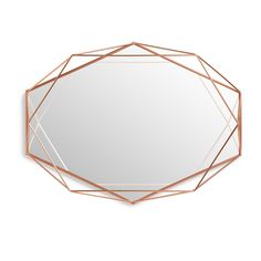 Make a striking addition to your interior with the Prisma mirror from Umbra. Constructed by creating offset wires in front of the glass, this mirror is both functional and decorative, as the wires . Copper Mirror, Black Wall Mirror, Rose Gold Mirror, Copper Wall, Metal Mirror, Wall Mounted Mirror, Floor Mirror, Wall Mirrors, Mirror Mirror
