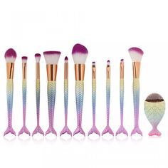 Poze Set 11 Pensule Machiaj Mermaid Lavender Mist Limited Edition