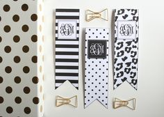 Free Printable Black and White Bookmarks by Jessica Marie Design