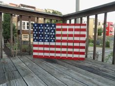 American flag on a wooden pallet on Etsy, $100.00