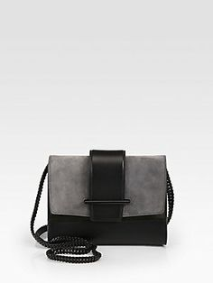 Narciso Rodriguez Leather & Suede Colorblock Shoulder Bag